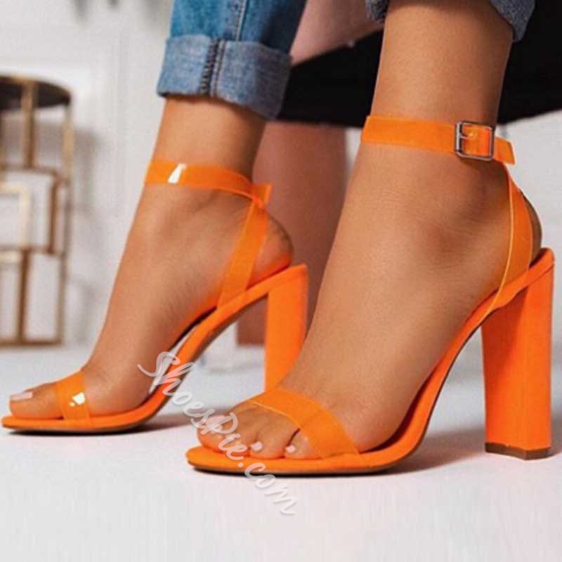Shoespie Stylish Open Toe Ankle Strap Buckle Casual Sandals