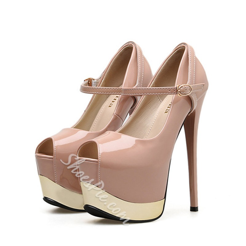 Shoespie Stylish Stiletto Heel Peep Toe Pumps
