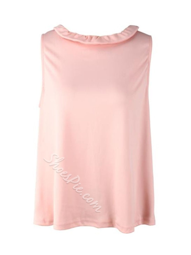 Bowknot Summer Mid-Length Women's Tank Top