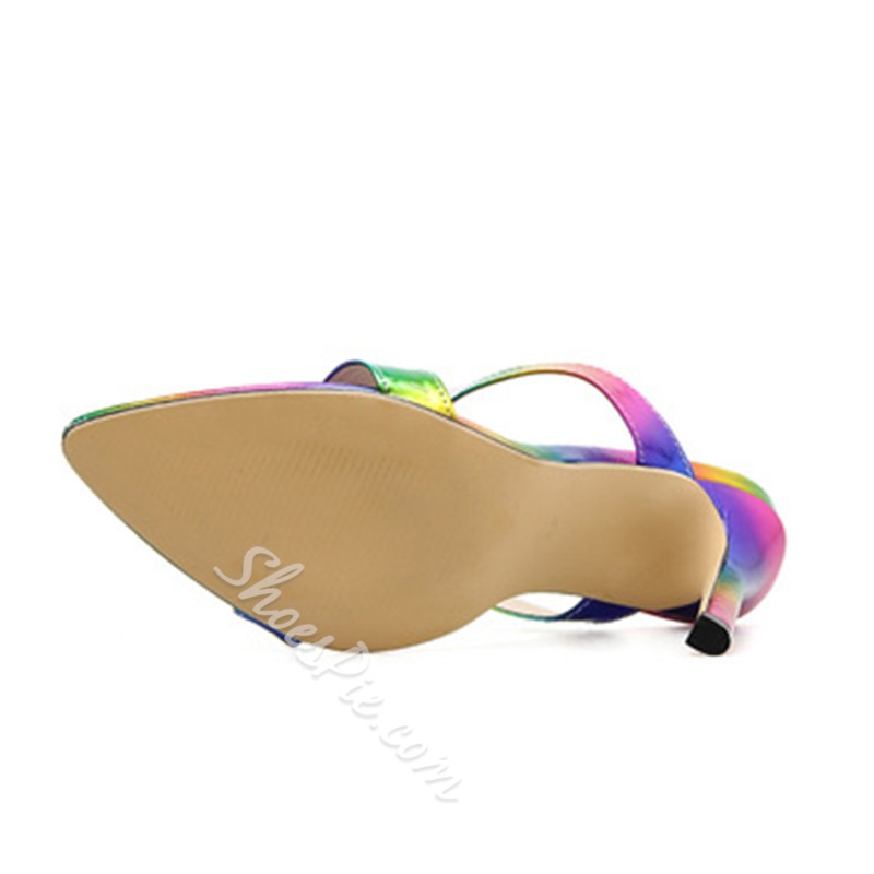 Shoespie Sexy Colorful Stiletto Heel Slippers