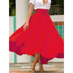 Lace-Up Expansion Ankle-Length Date Night Women's Skirt