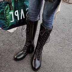 Shoespie Stylish Pointed Toe Side Zipper Plain Casual Boots