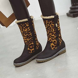 Shoespie Trendy Patchwork Round Toe Slip-On Casual Boots