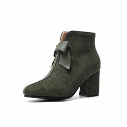 Shoespie Stylish Chunky Heel Round Toe Side Zipper Casual Boots
