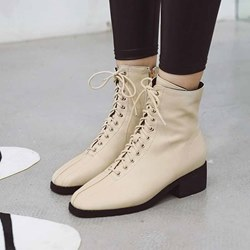 Shoespie Trendy Plain Round Toe Block Heel Casual Boots