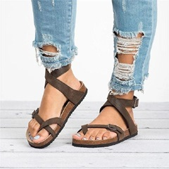 Shoespie Flat Ankle Strap Casual Buckle Sandals
