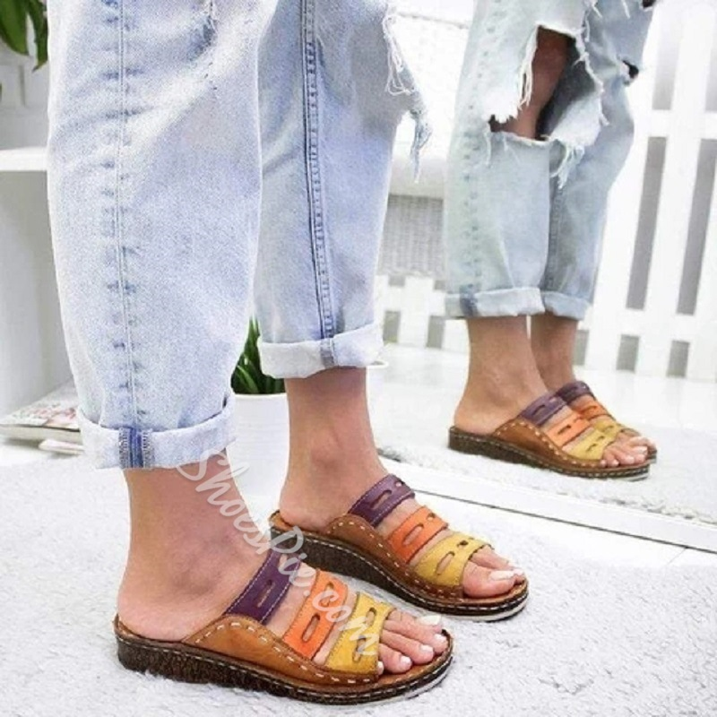 Shoespie Hollow Flat Casual Sandals