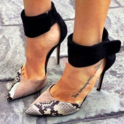 Shoespie Sexy Pointed Toe Hook Loop Stiletto Heels