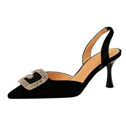 Shoespie Sexy Pointed Toe Slingback Strap Slip-On Thread Sandals
