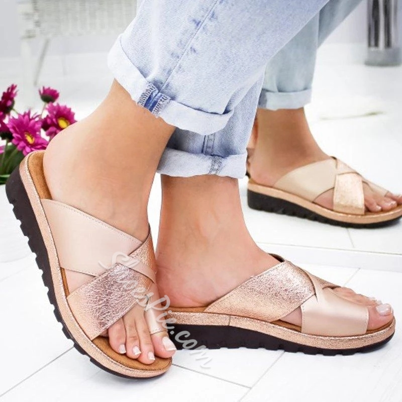 Shoespie Comfy Casual Slip-On Open Toe Sandals