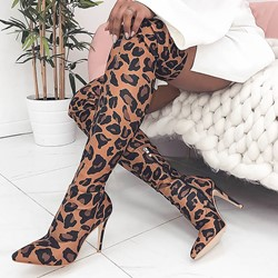 Shoespie Stylish Pointed Toe Side Zipper Stiletto Heel Casual Boots