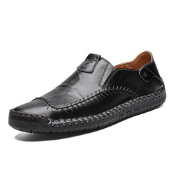 Shoespie Men's Plain Slip-On Low-Cut Upper Round Toe Thin Shoes