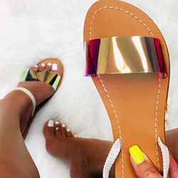 Shoespie Neon Flat Casual Slippers