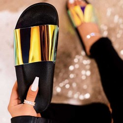 Shoespie Flat Neon Beach Slippers