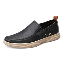 Shoespie Men's Color Block Slip-On Low-Cut Upper Round Toe Loafeers