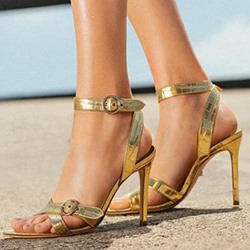 Shoespie Trendy Buckle Stiletto Heel Open Toe Casual Sandals