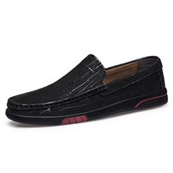 Shoespie Men's Slip-On Low-Cut Upper Plain Round Toe Simple Thin Shoes