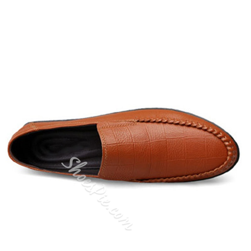 Shoespie Men's Slip-On Low-Cut Upper Round Toe Thin Shoes