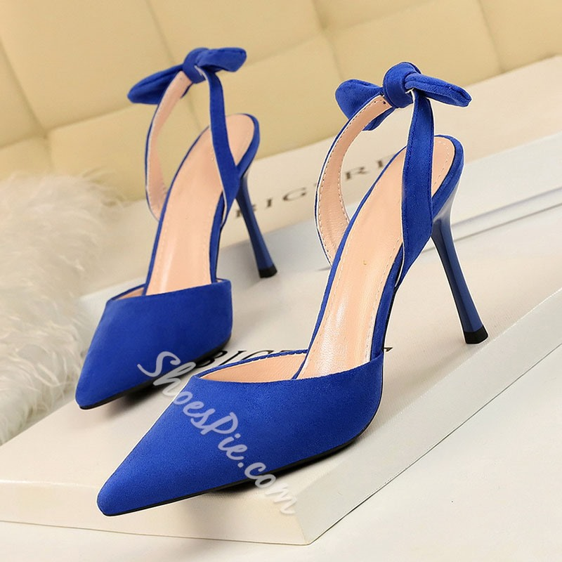 Shoespie Stylish Slingback Strap Pointed Toe Stiletto Heel Thread Sandals