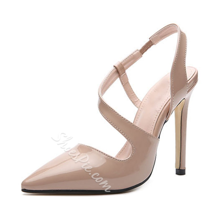 Shoespie Stylish Slip-On Stiletto Heel Pointed Toe Low-Cut Upper Sandals