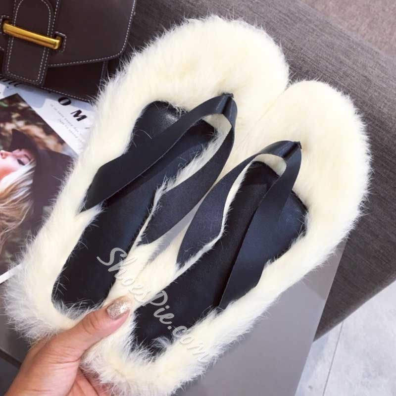 Shoespie Stylish Thong Slip-On Flat With Patchwork Slippers