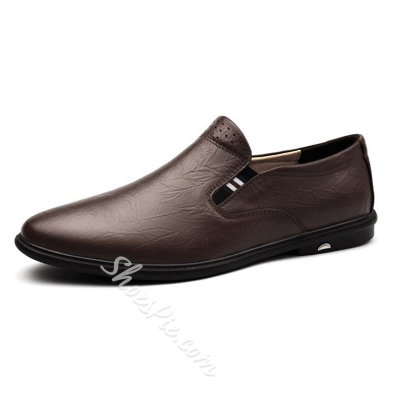 Shoespie Men's Plain Slip-On Low-Cut Upper Casual Shoes