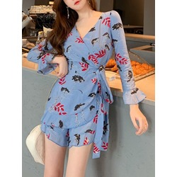 Fashion Worn Shorts Slim Women's Jumpsuit