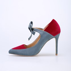 Color Block Bow Stiletto Heels