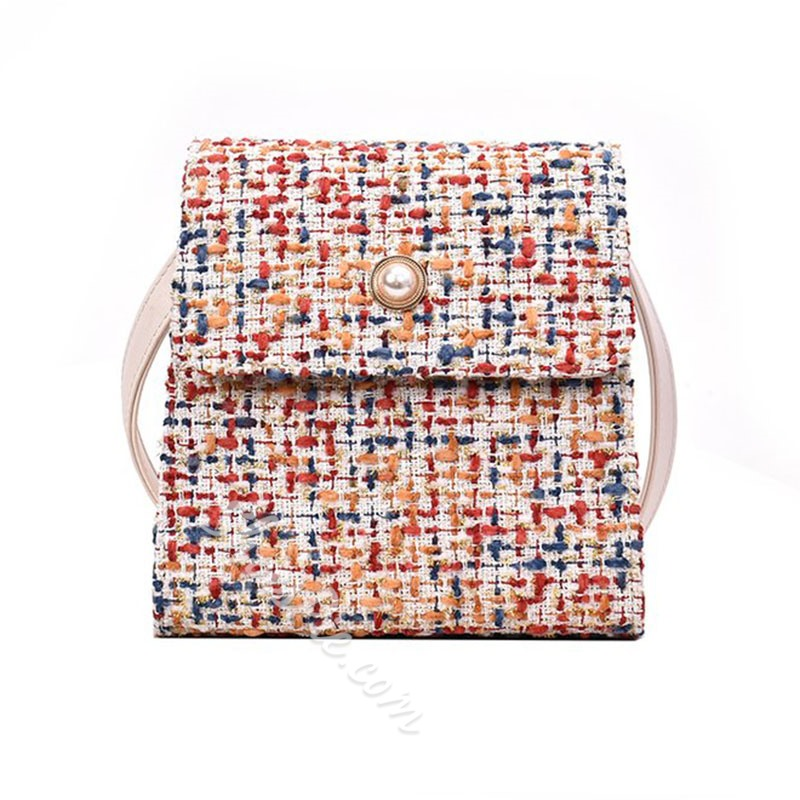 Shoespie Color Block Rectangle Crossbody Bags