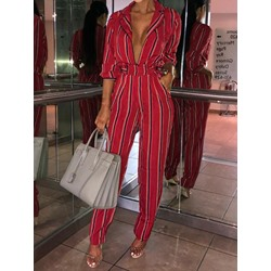 Fashion Print Full Length Straight Women's Jumpsuit