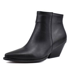 Shoespie Sexy Chunky Heel Pointed Toe Color Block Short Floss Boots