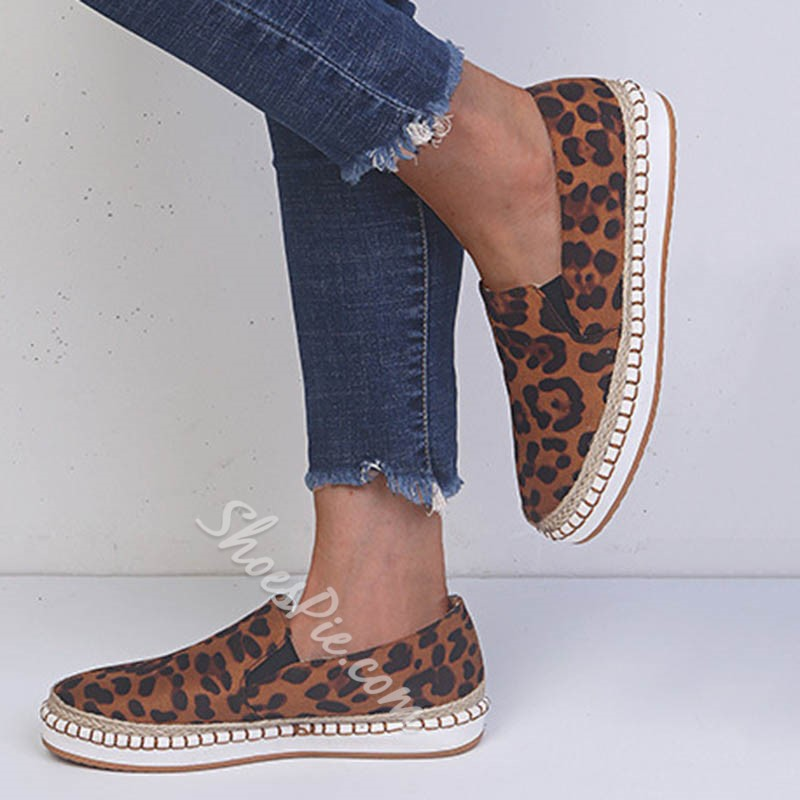 Shoespie Sexy Thread Slip-On Round Toe Casual Thin Shoes