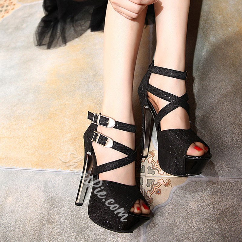Shoespie Sexy Platform Stiletto Heel Zipper Sweet Thin Shoes