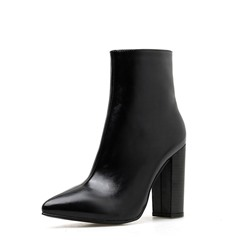 Shoespie Sexy Side Zipper Chunky Heel Plain Thread Boots