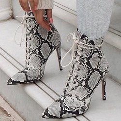 Shoespie Sexy Pointed Toe Color Block Stiletto Heel Casual Boots