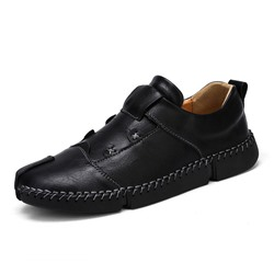 Shoespie Men's Slip-On Patchwork Low-Cut Upper Closed Toe Thin Shoes