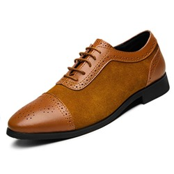 Shoespie Men's Plain Lace-Up Low-Cut Upper Round Toe Casual Shoes