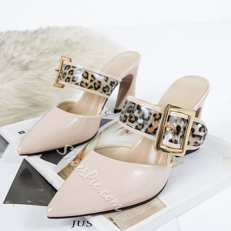 Shoespie Sexy Closed Toe Slip-On Leopard Slippers