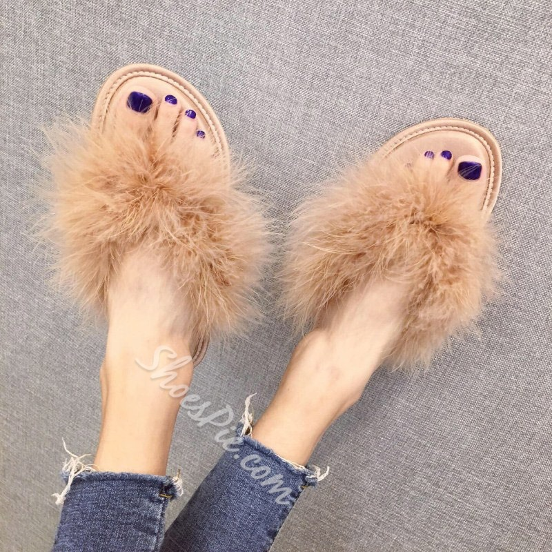 Shoespie Stylish Flat With Thong Thread Rubber Slippers