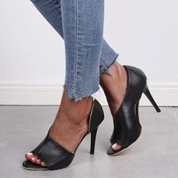 Shoespie Sexy Peep Toe Slip-On Plain Sandals