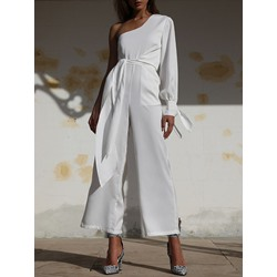 Fashion Ankle Length Asymmetric Wide Legs Women's Jumpsuit