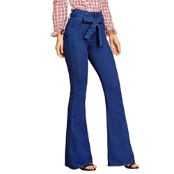 Bellbottoms Pocket Plain Slim Women's Jeans