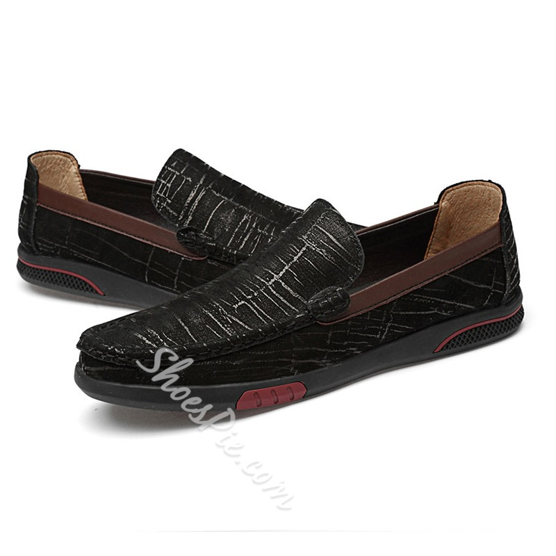 Shoespie Men's Low-Cut Upper Round Toe Leather Shoes