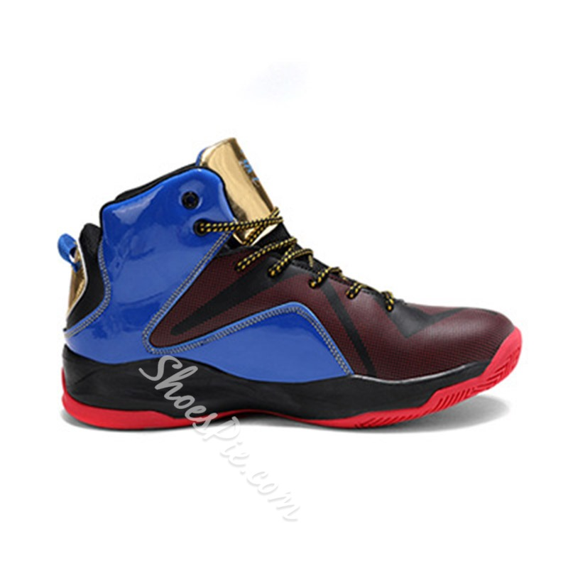 Shoespie Men's PU High-Cut Upper Lace-Up Round Toe Sneakers