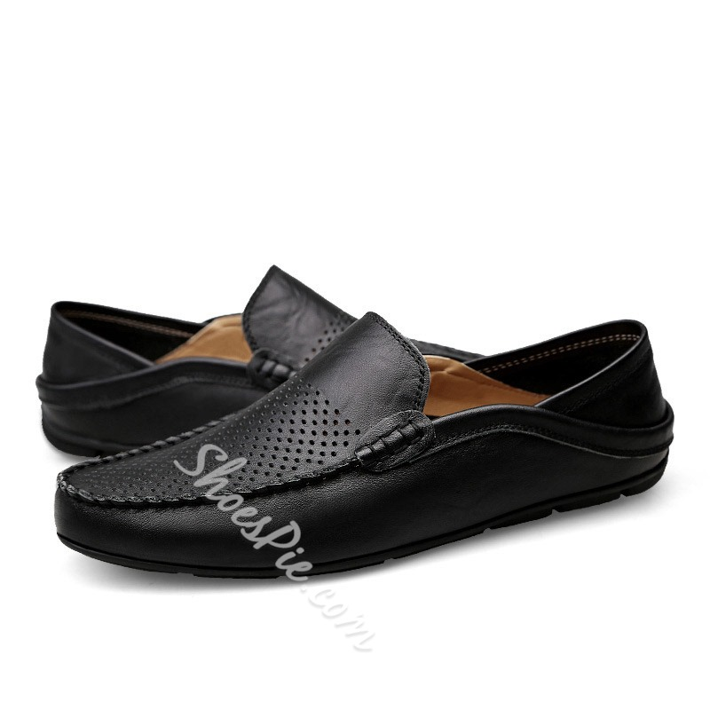 Shoespie Men's Low-Cut Upper Flat With Round Toe Leather Shoes