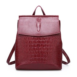 Shoespie Embossing Alligator PU Backpacks