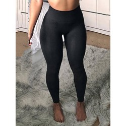 Seamless Joint Anti-Sweat Solid Polyester Winter Tennis Pants