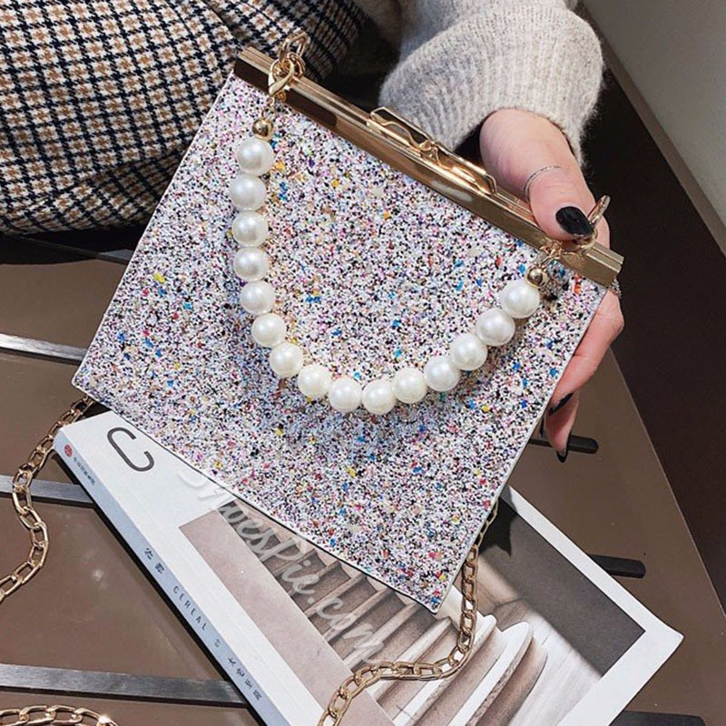 Shoespie Sequins Rectangle Tote Bags