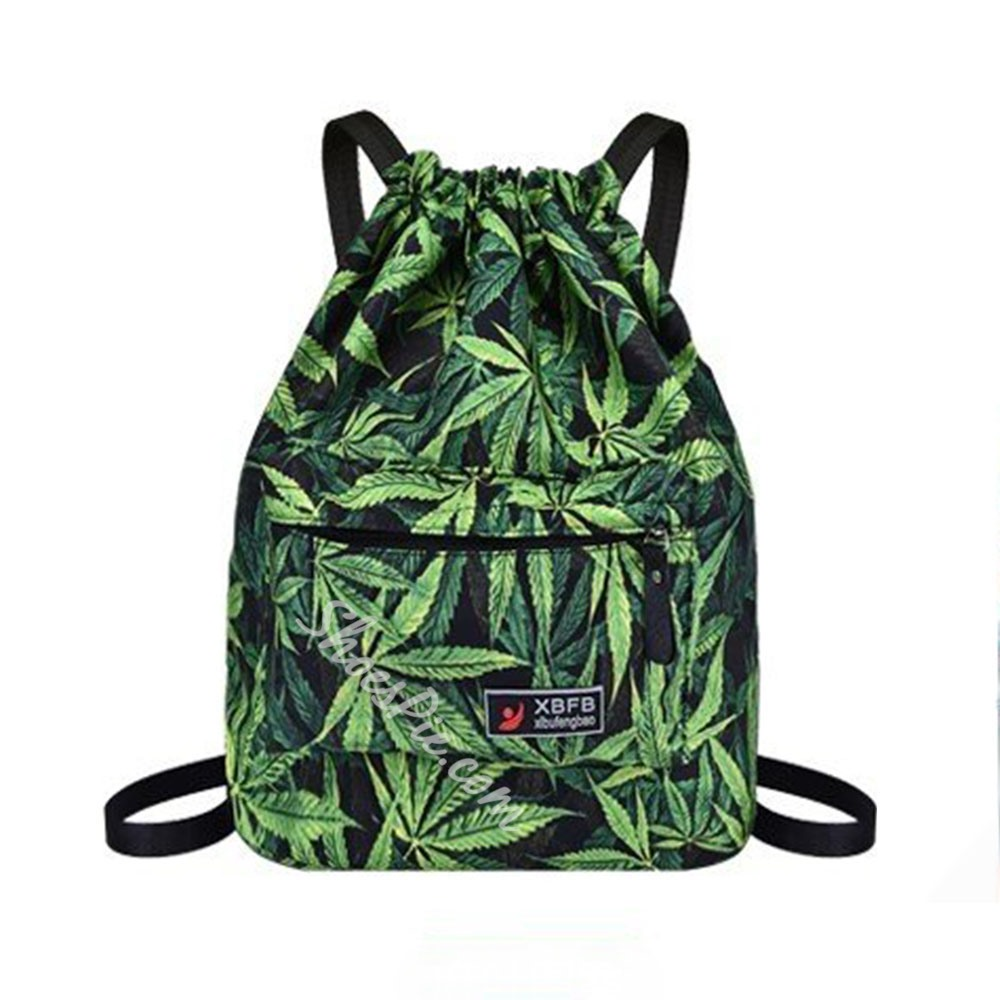 Shoespie Thread Print Oxford Backpacks
