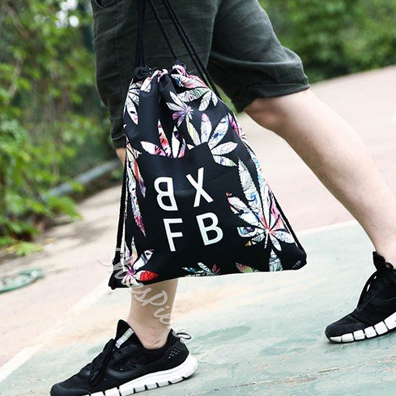 Shoespie Letter Print Oxford Backpacks